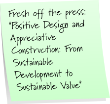 Positve Design and... Sustainable Value